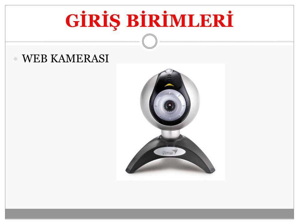GİRİŞ BİRİMLERİ WEB KAMERASI