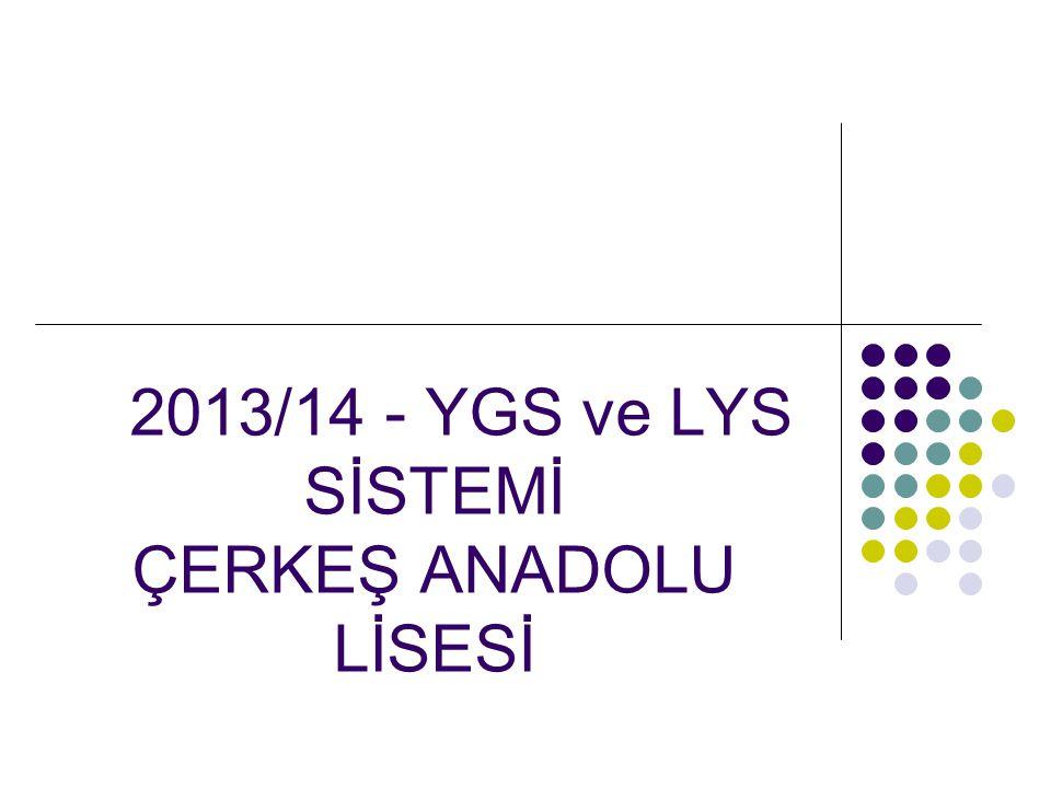2013/14 - YGS ve LYS SİSTEMİ ÇERKEŞ ANADOLU LİSESİ