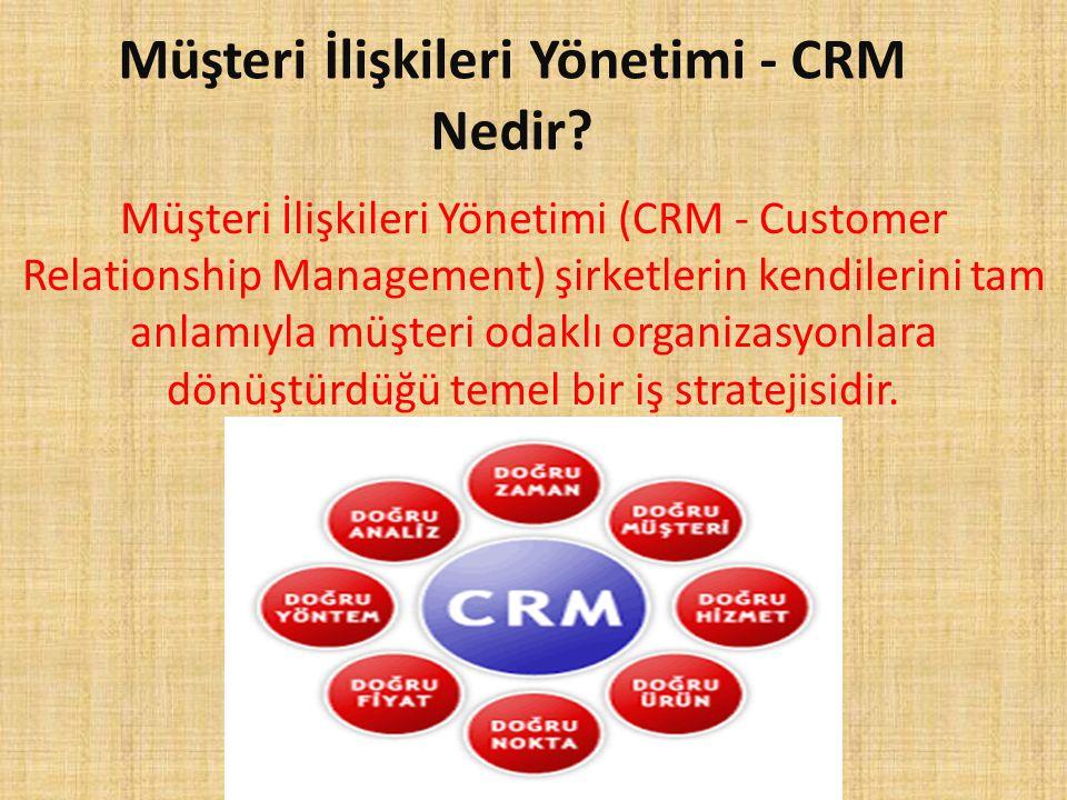 Müşteri İlişkileri Yönetimi - CRM Nedir