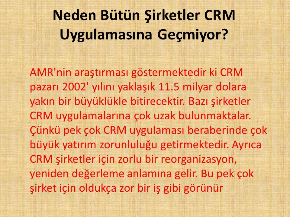Neden Bütün Şirketler CRM Uygulamasına Geçmiyor