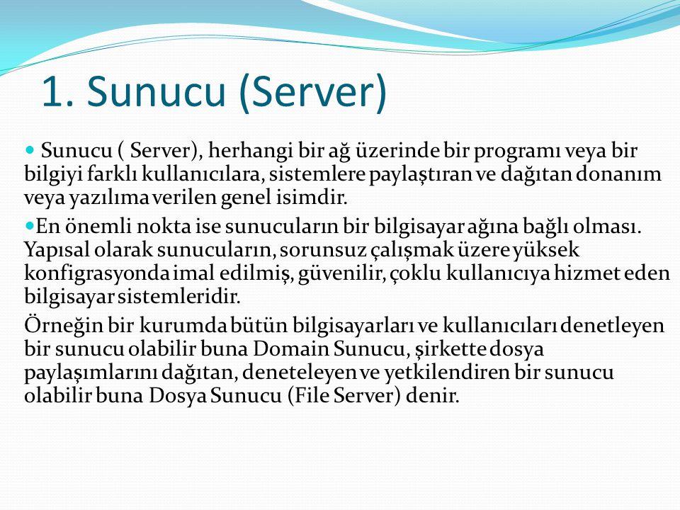 1. Sunucu (Server)