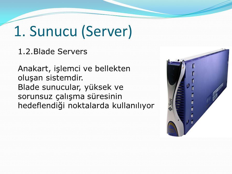 1. Sunucu (Server) 1.2.Blade Servers