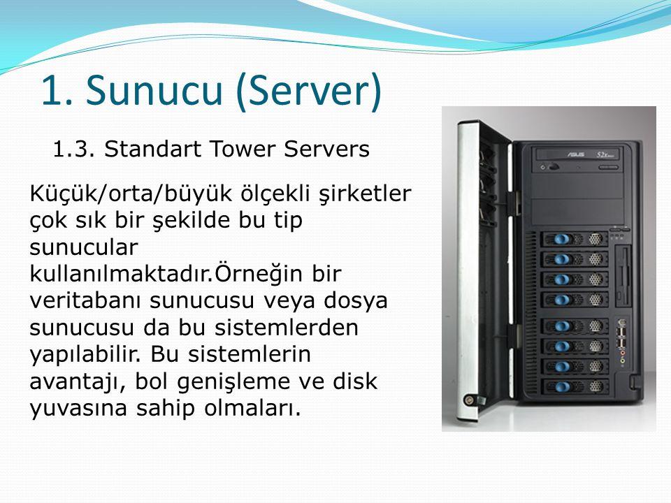 1. Sunucu (Server) 1.3. Standart Tower Servers