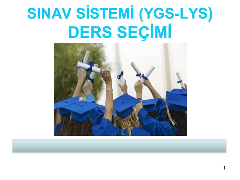 SINAV SİSTEMİ (YGS-LYS) DERS SEÇİMİ