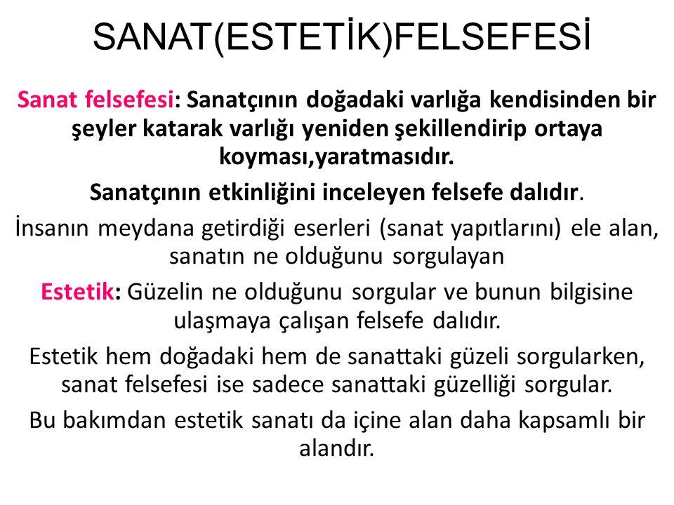 SANAT(ESTETİK)FELSEFESİ