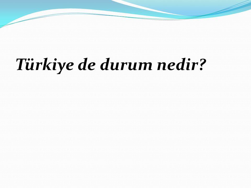 Türkiye de durum nedir