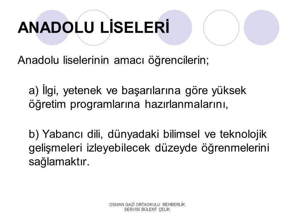 OSMAN GAZİ ORTAOKULU REHBERLİK SERVİSİ BÜLENT ÇELİK