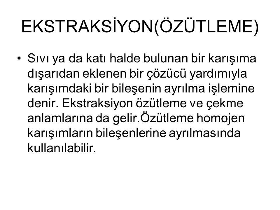 EKSTRAKSİYON(ÖZÜTLEME)