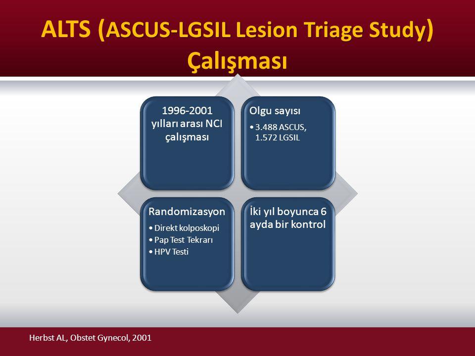 ALTS (ASCUS-LGSIL Lesion Triage Study) Çalışması