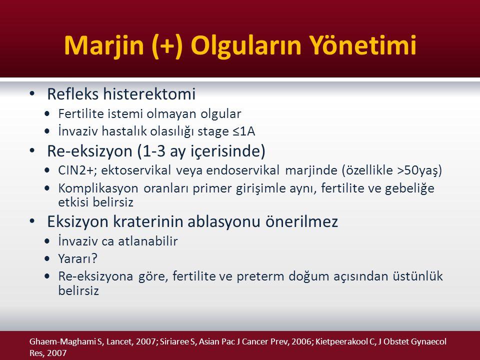 Marjin (+) Olguların Yönetimi