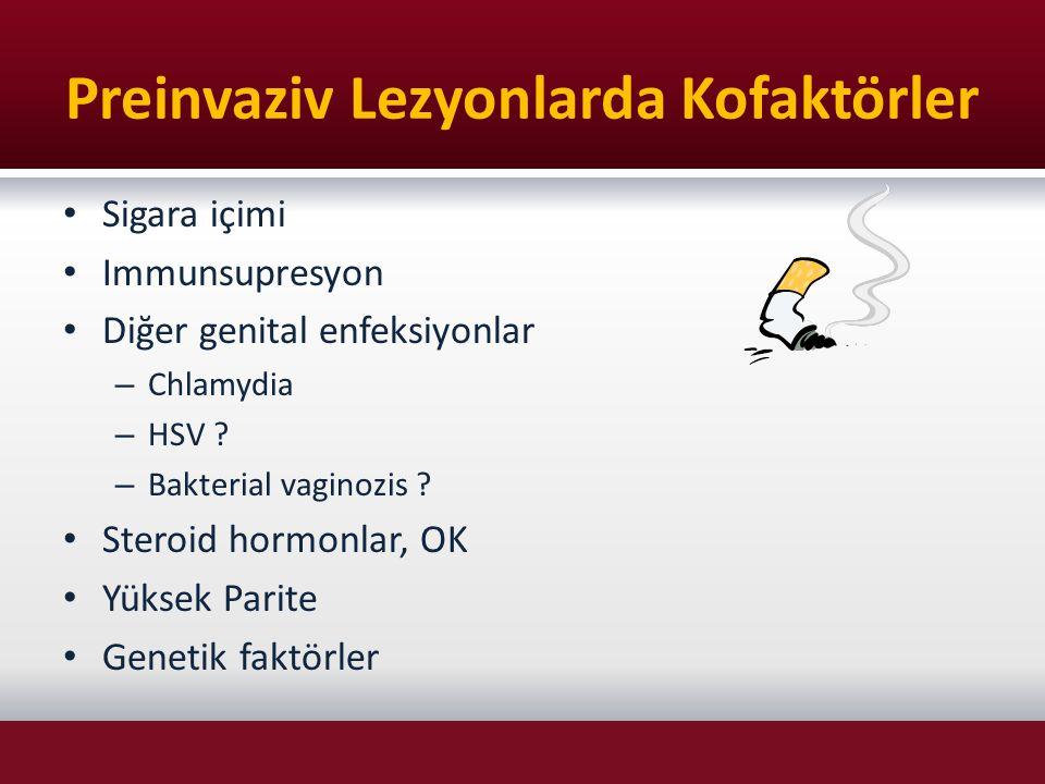 Preinvaziv Lezyonlarda Kofaktörler