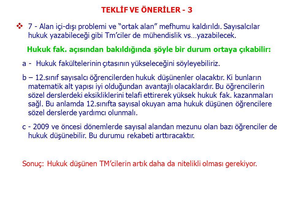 TEKLİF VE ÖNERİLER - 3