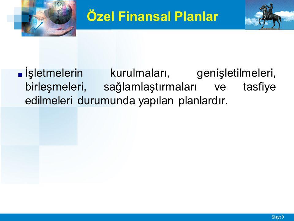Finansal planlamanın sağlayacağı başlıca yararlar