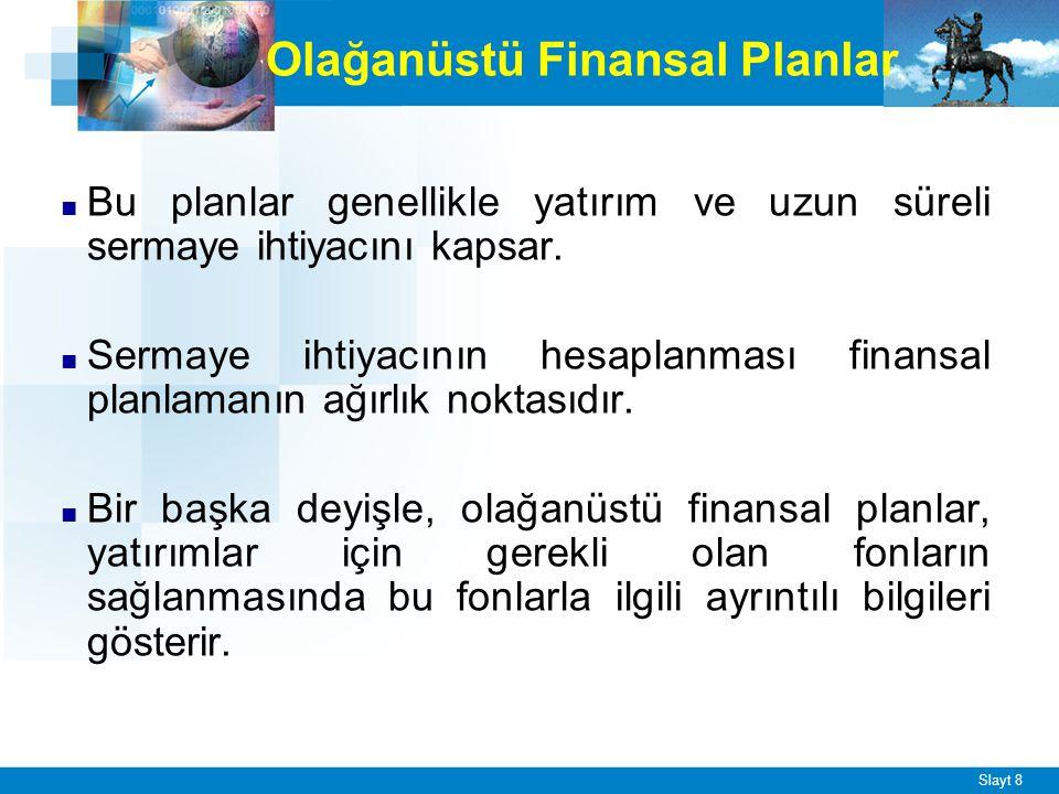 Özel Finansal Planlar