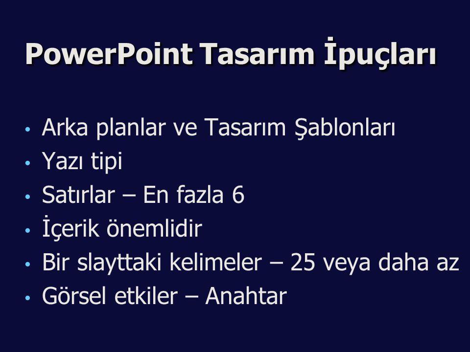 PowerPoint Tasarım İpuçları