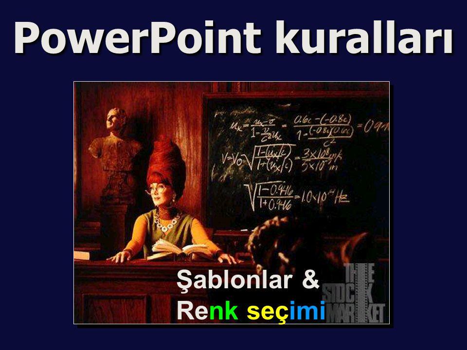 PowerPoint kuralları Şablonlar & Renk seçimi