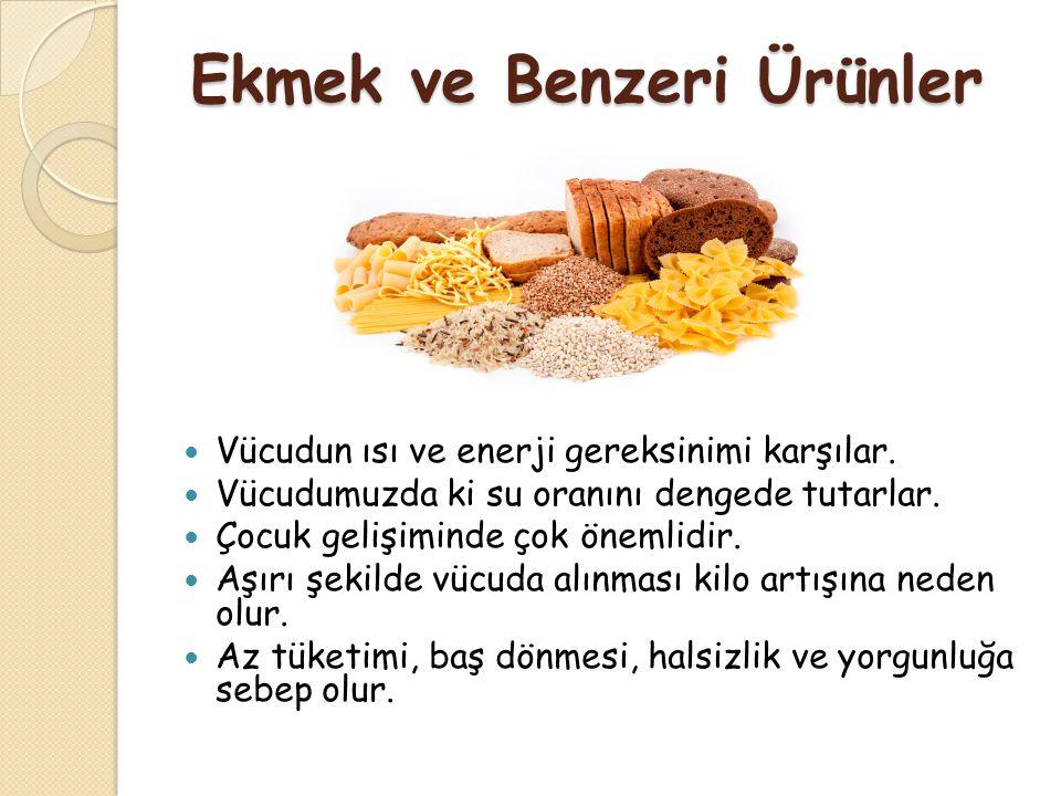 Ekmek ve Benzeri Ürünler