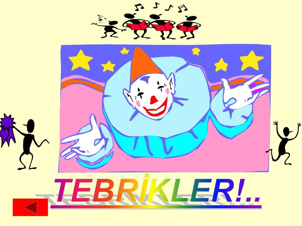 TEBRİKLER!..