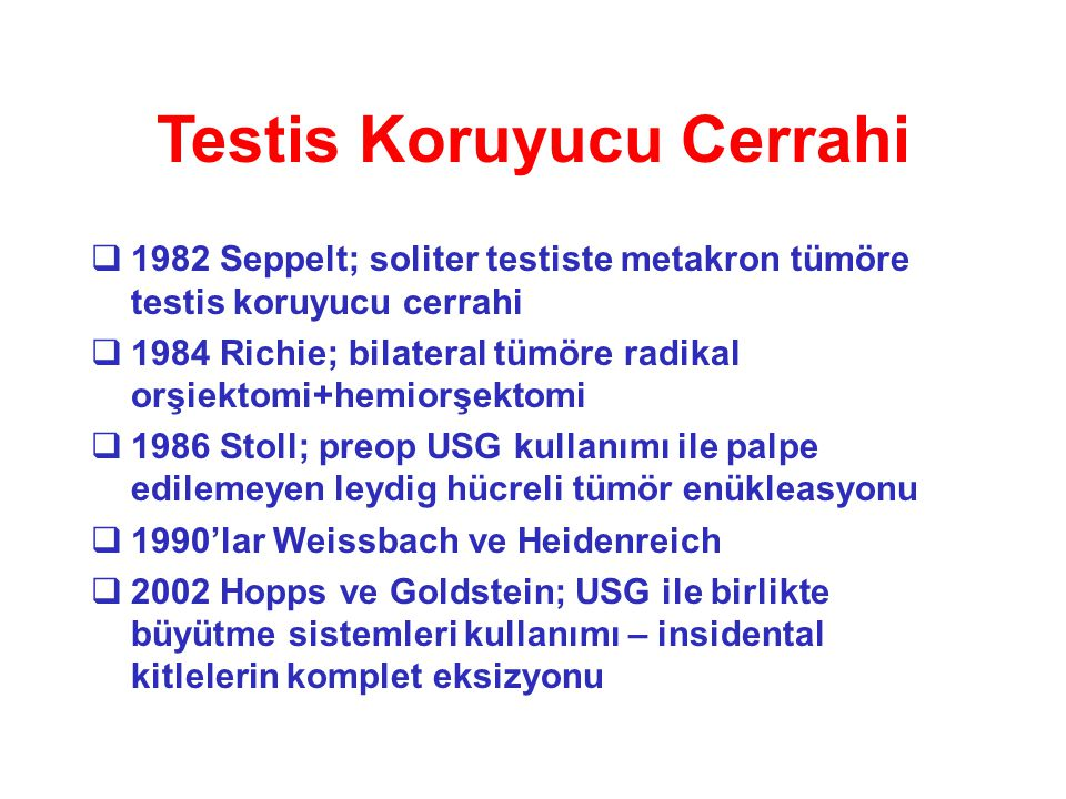 Testis Koruyucu Cerrahi