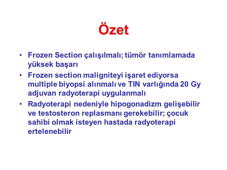 Özet Frozen Section çalışılmalı; tümör tanımlamada yüksek başarı