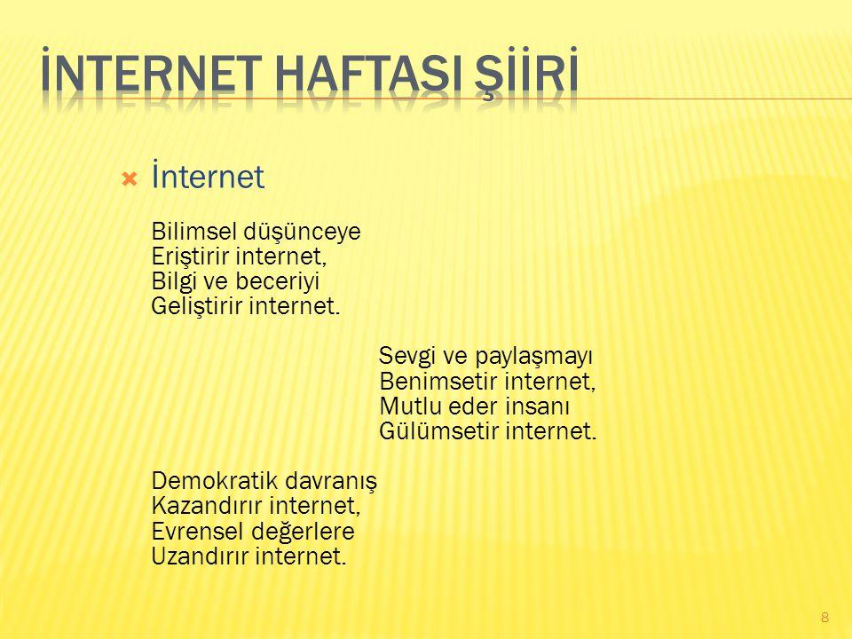 İNTERNET HAFTASI ŞİİRİ