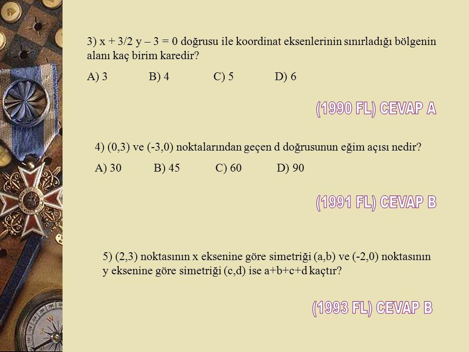 (1990 FL) CEVAP A (1991 FL) CEVAP B (1993 FL) CEVAP B