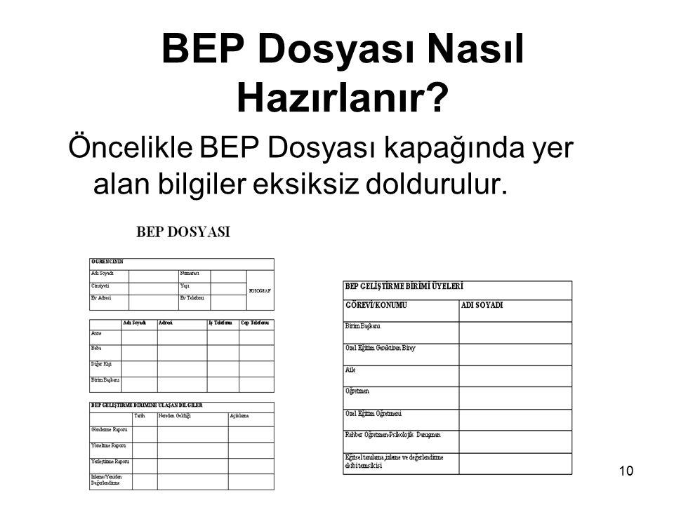 BEP Dosyası Nasıl Hazırlanır