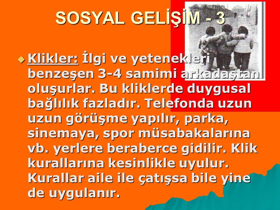 SOSYAL GELİŞİM - 3