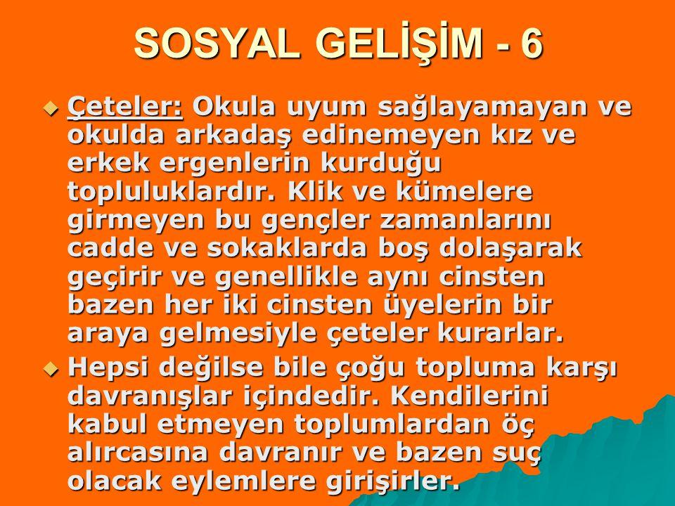 SOSYAL GELİŞİM - 6