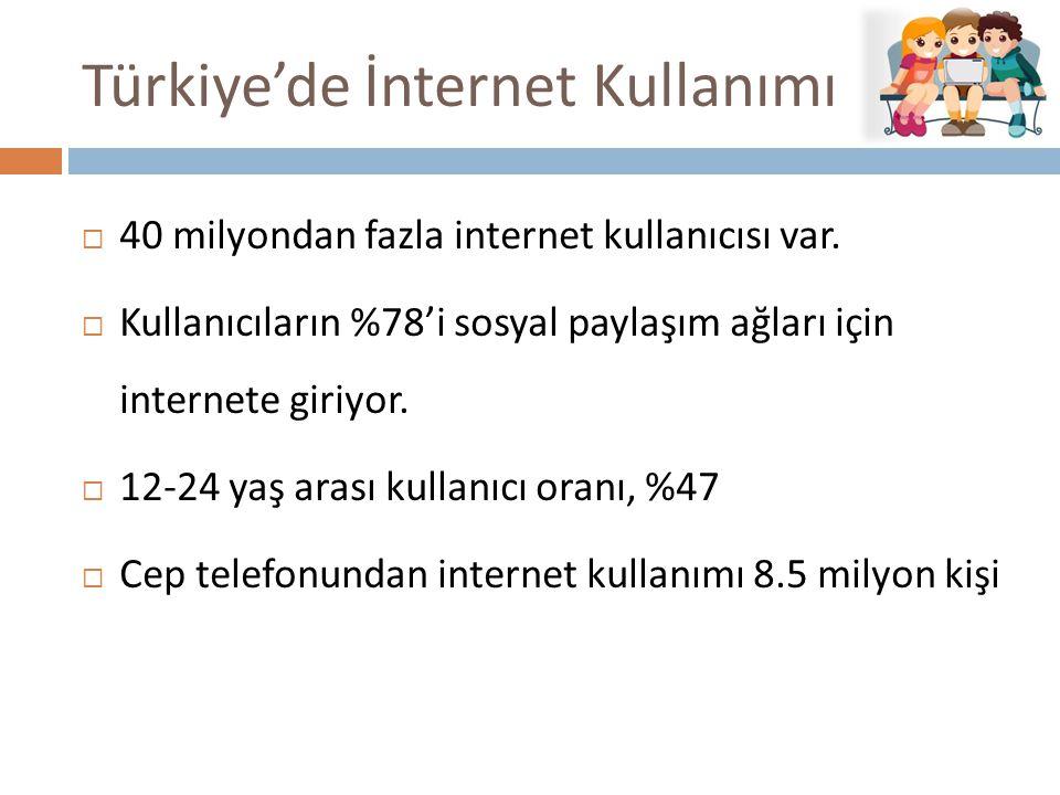 Türkiye'de İnternet Kullanımı