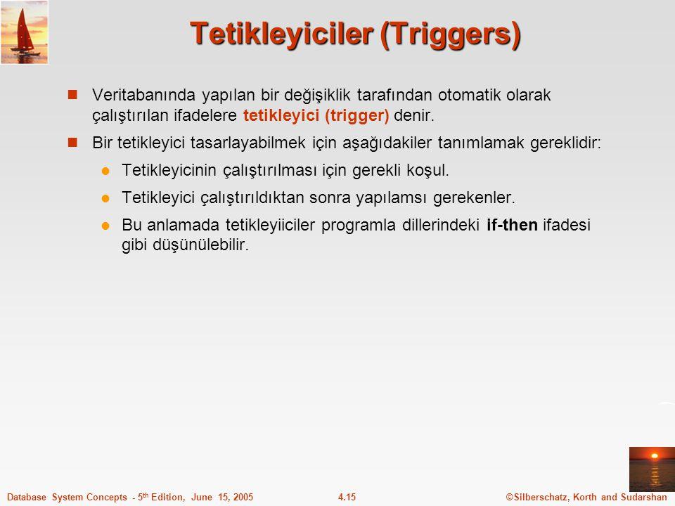 Tetikleyiciler (Triggers)