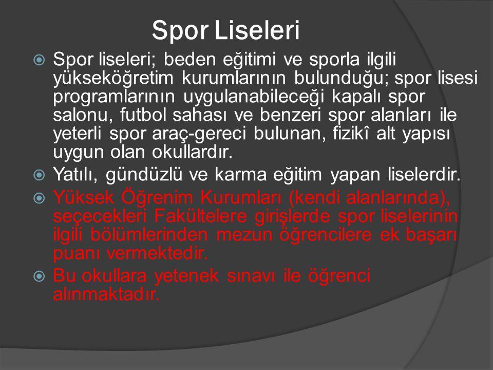 Spor Liseleri