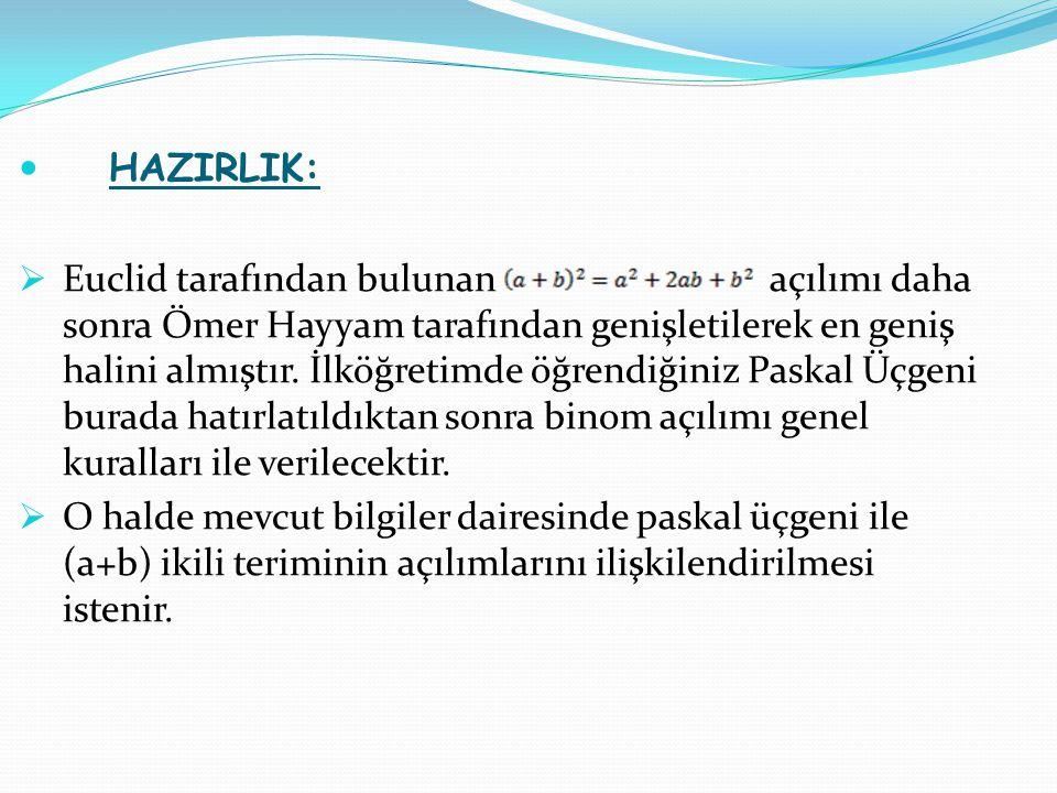 HAZIRLIK: