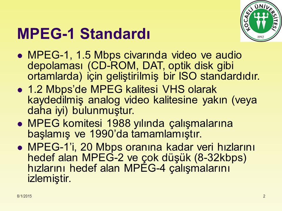 MPEG-1 Standardı