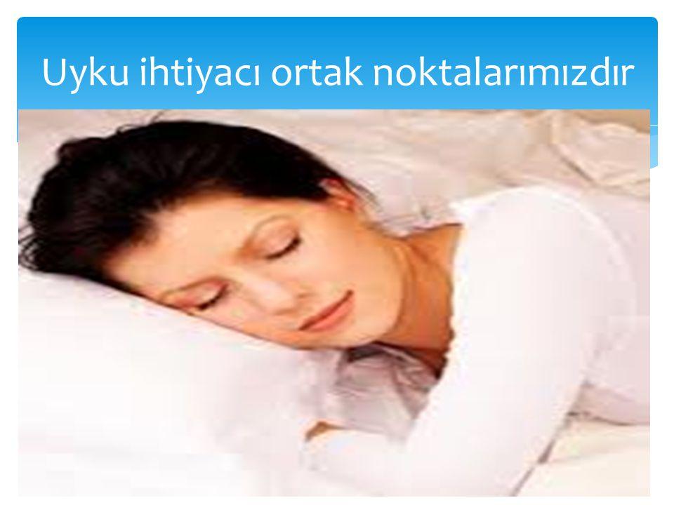 Uyku ihtiyacı ortak noktalarımızdır