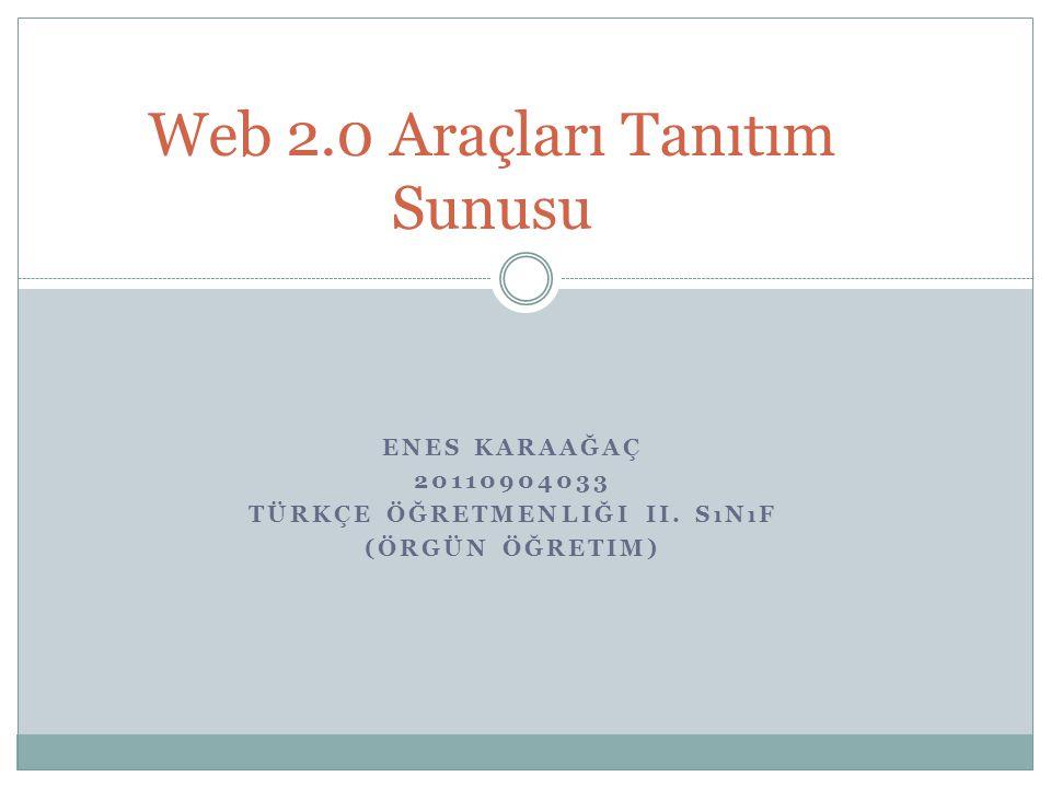 Web 2.0 Araçları Tanıtım Sunusu