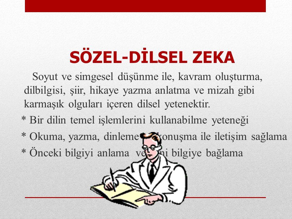 SÖZEL-DİLSEL ZEKA