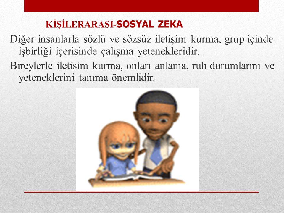 KİŞİLERARASI-SOSYAL ZEKA