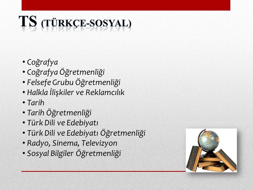 TS (Türkçe-sosyal) Coğrafya Coğrafya Öğretmenliği