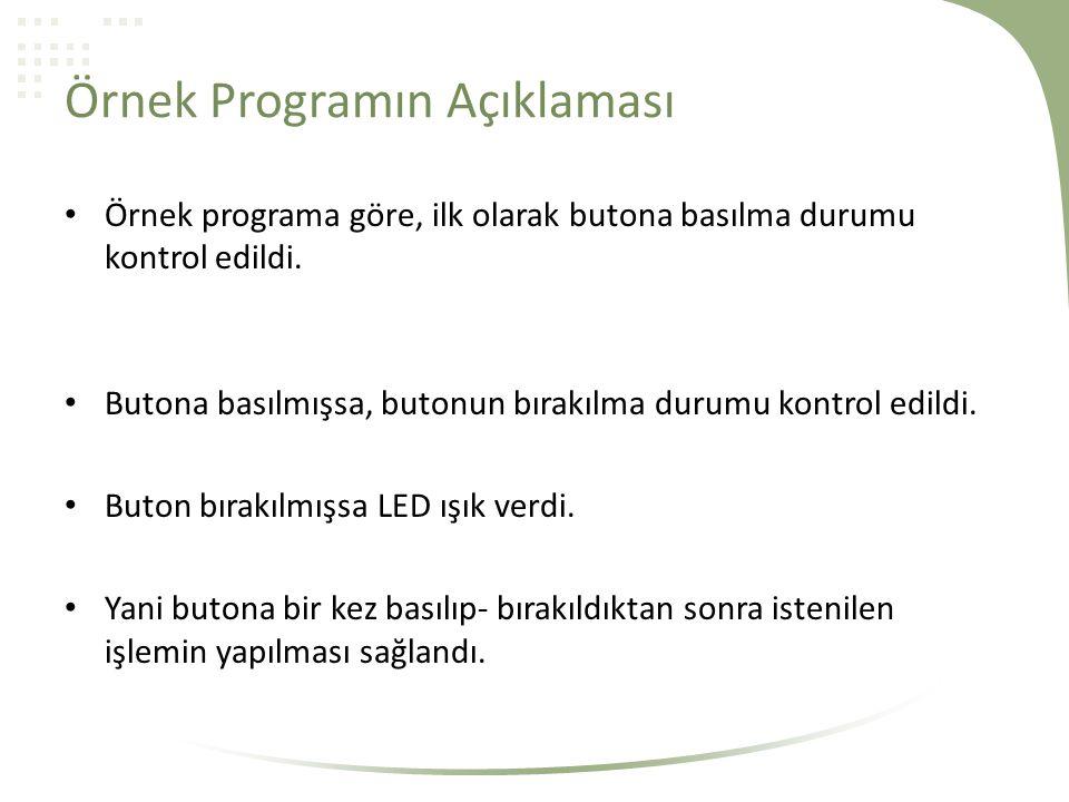 Örnek Programın Açıklaması