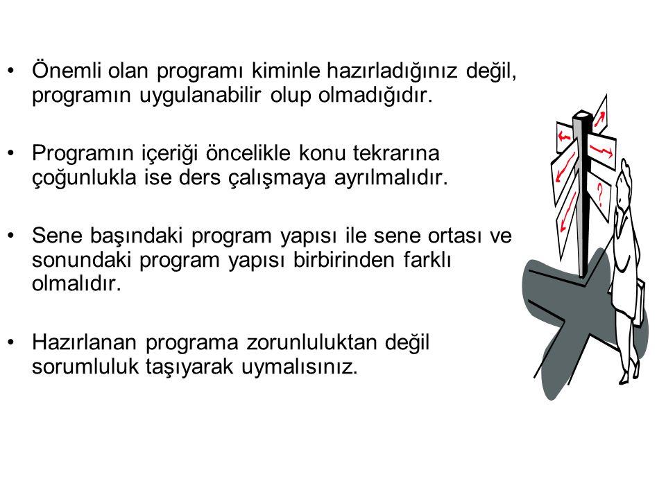 Önemli olan programı kiminle hazırladığınız değil, programın uygulanabilir olup olmadığıdır.
