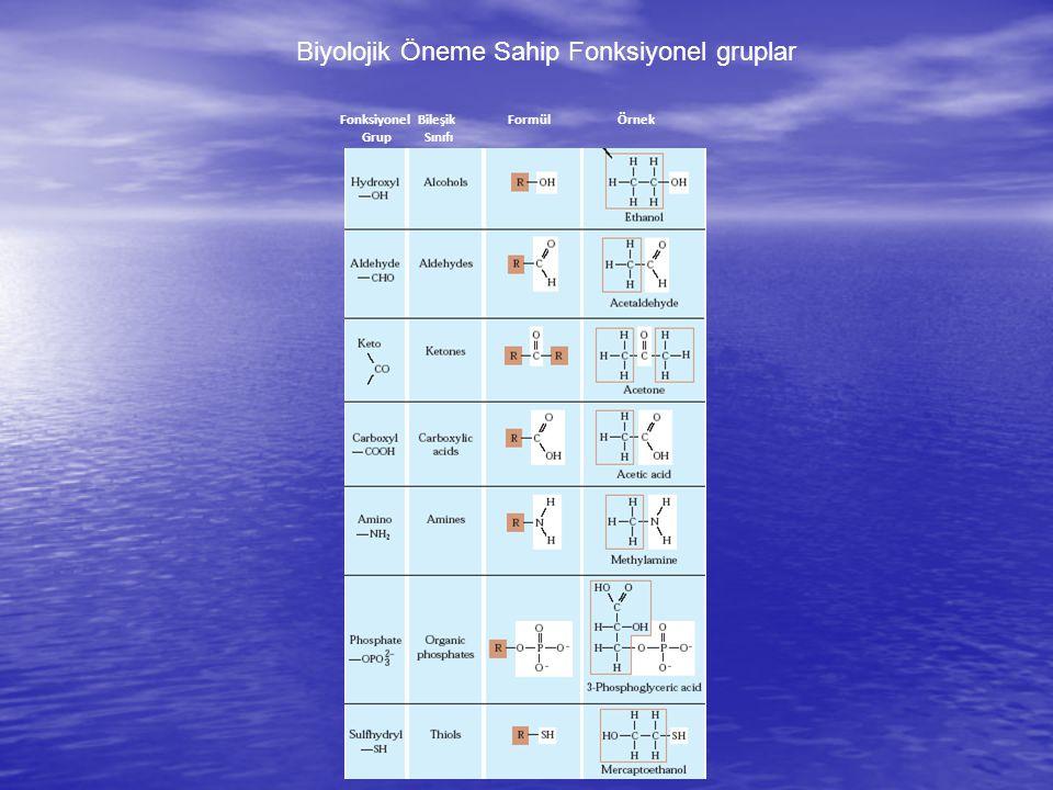 Biyolojik Öneme Sahip Fonksiyonel gruplar