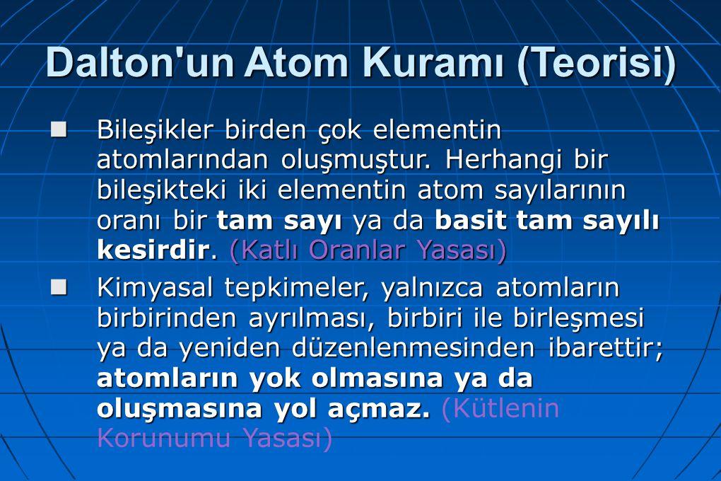 Dalton un Atom Kuramı (Teorisi)