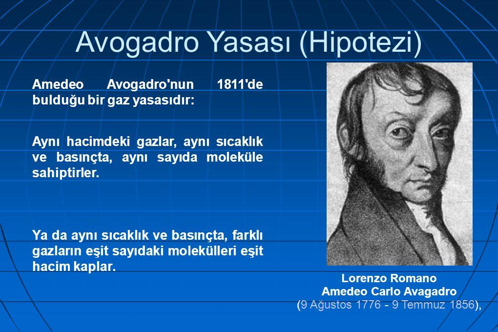 Avogadro Yasası (Hipotezi)