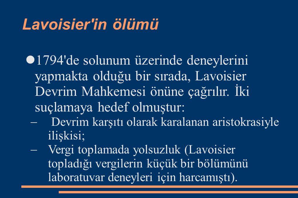 Lavoisier in ölümü
