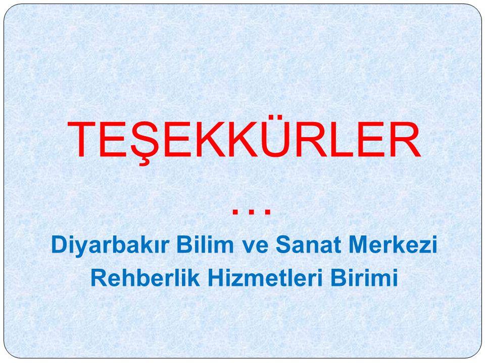 Diyarbakır Bilim ve Sanat Merkezi Rehberlik Hizmetleri Birimi