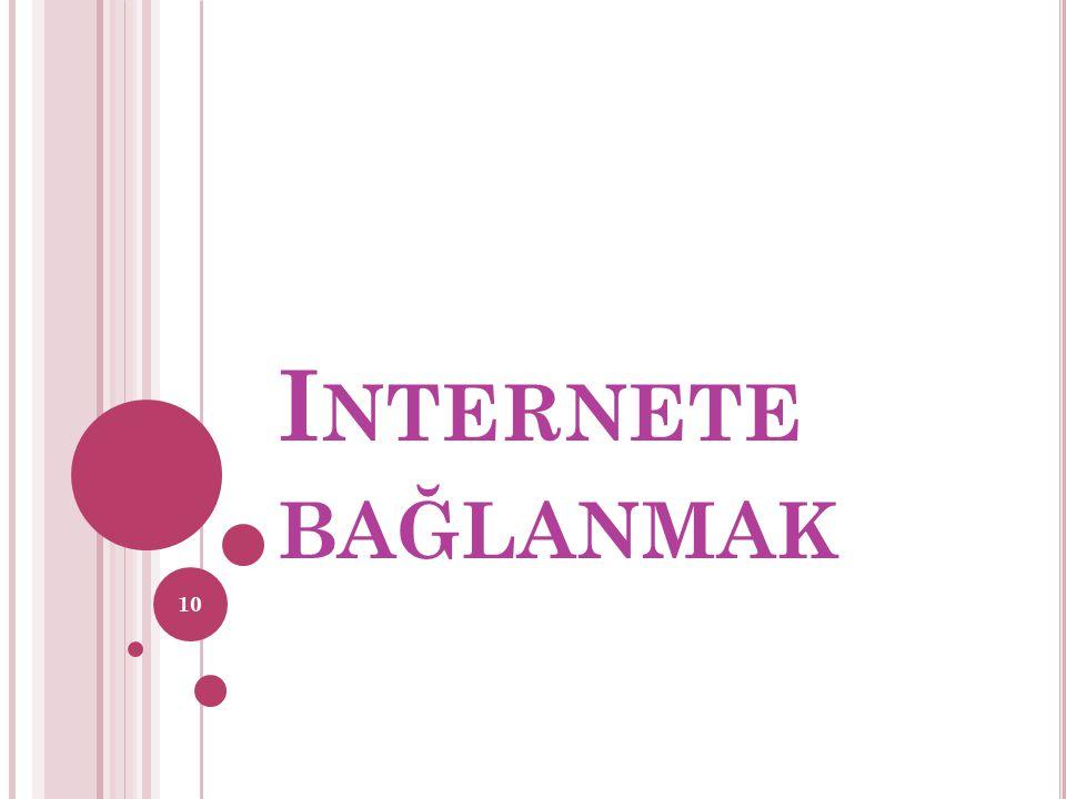 Internete bağlanmak