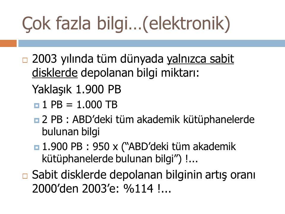 Çok fazla bilgi…(elektronik)