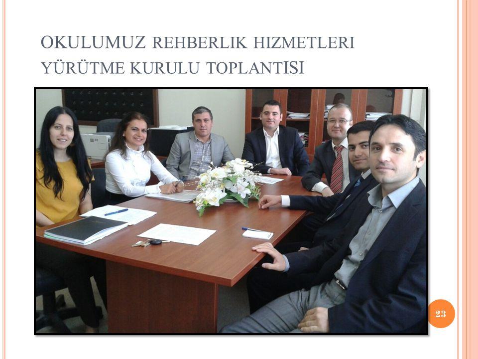 OKULUMUZ rehberlik hizmetleri yürütme kurulu toplantISI