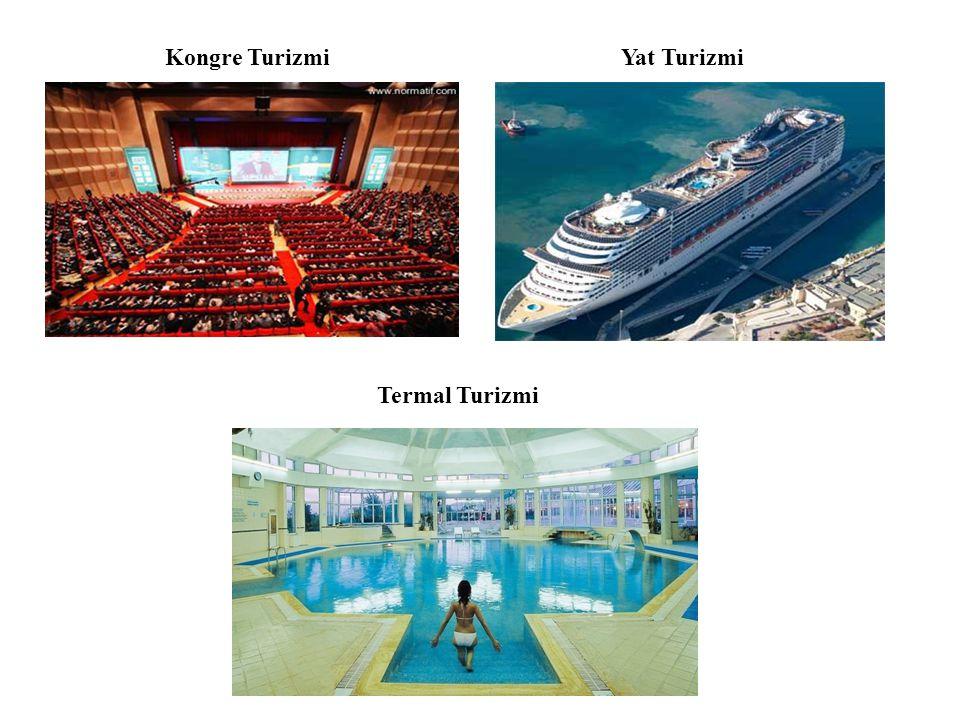 Kongre Turizmi Yat Turizmi Termal Turizmi